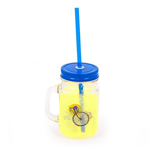BiggDesign Nature Kulplu Limonata Bardağı Mavi. ürün görseli
