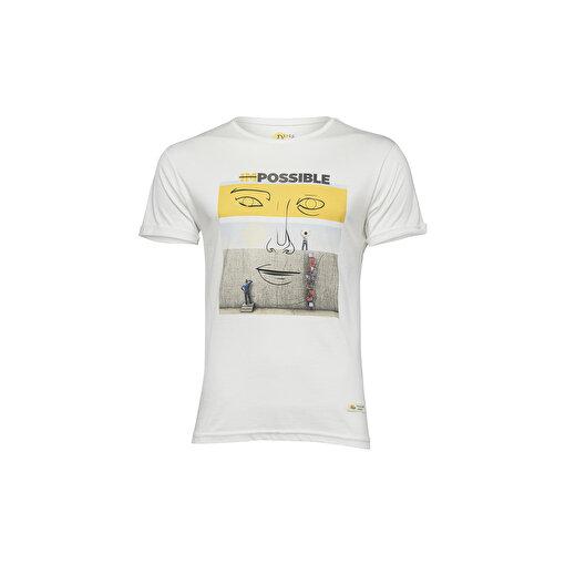 Biggdesign Faces Possible Erkek T-Shirt. ürün görseli