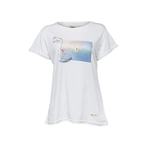 Biggdesign Faces Happy Kadın T-Shirt. ürün görseli