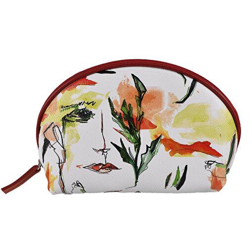 Biggdesign Faces Deri Makyaj çantası. ürün görseli