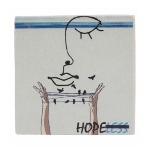 Biggdesign Faces HopeLess Taş Bardak Altı. ürün görseli