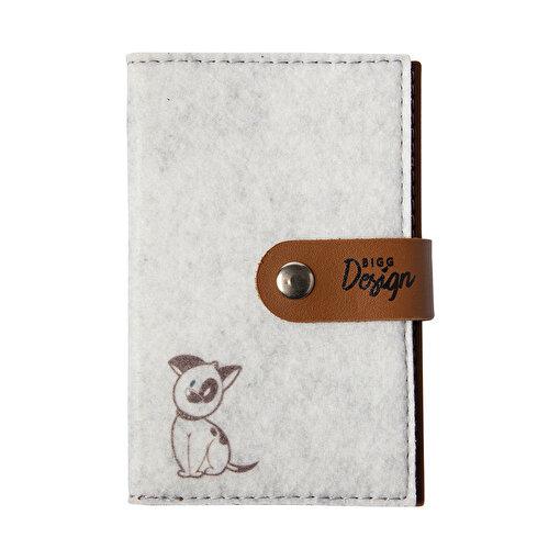 Biggdesign Dogs Keçe Pasaport Kabı. ürün görseli