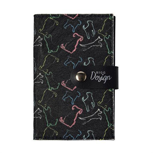 Biggdesign Dogs Siyah Keçe Pasaport Kabı. ürün görseli
