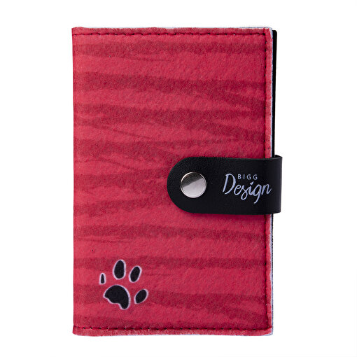 Biggdesign Dogs Kırmızı Keçe Pasaport Kabı. ürün görseli