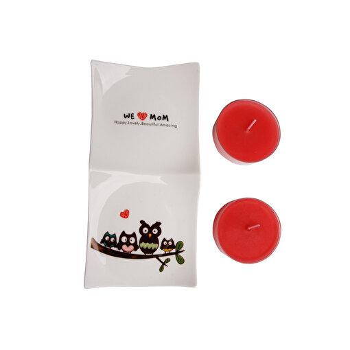 Biggdesign Tealight Mum Seti - Kırmızı. ürün görseli