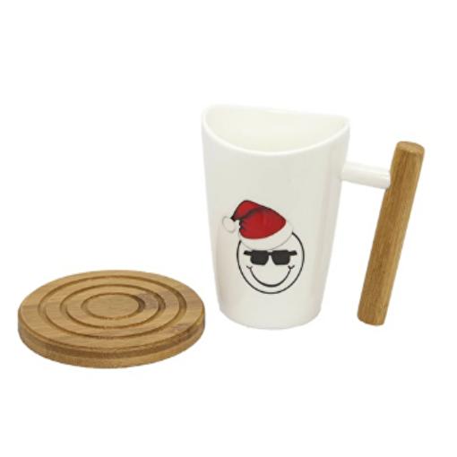 Boomug Yılbaşı Gözlüklü Porselen Kupa Seti. ürün görseli
