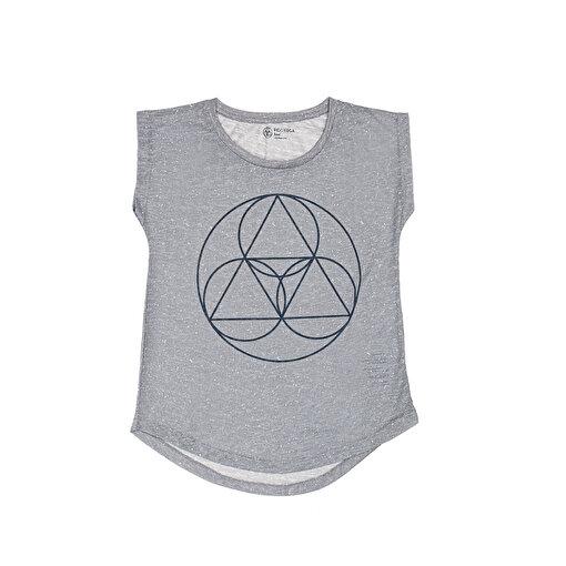 BiggDesign BiggYoga Namaste Gri T-Shirt. ürün görseli