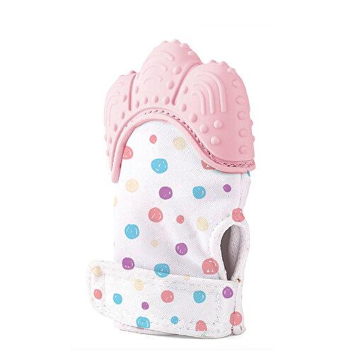 Babyjem Bebek Diş Kaşıma Eldiveni olarak Pembe. ürün görseli