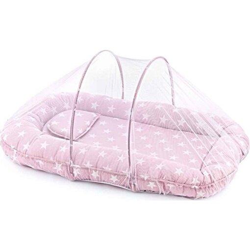 Babyjem Cibinlikli Uyku Pedi Pembe Yıldız. ürün görseli