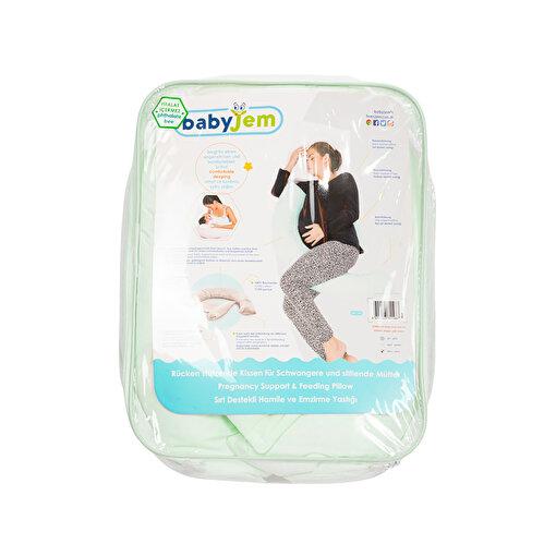 Babyjem Sırt Destekli Hamile Ve Emzirme Yastığı Yeşil. ürün görseli