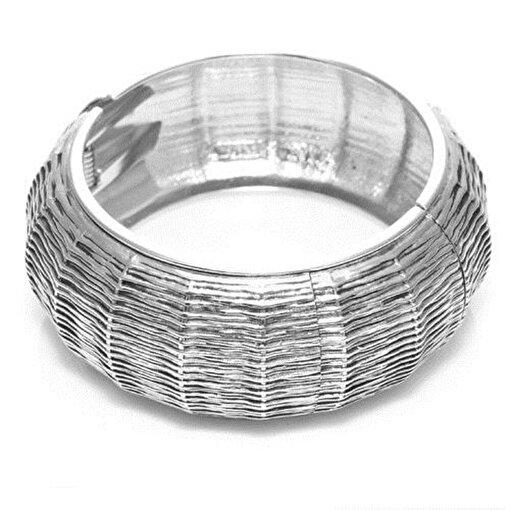 Biggbijoux Hathor Tırtık Kelepçe-Gümüş Renkli. ürün görseli