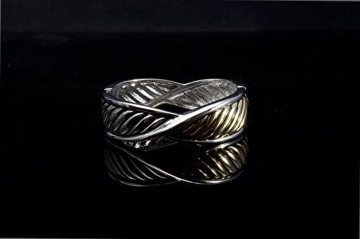 Biggbijoux Hathor Örgü Kelepçe-Altıngümüş Renkli. ürün görseli