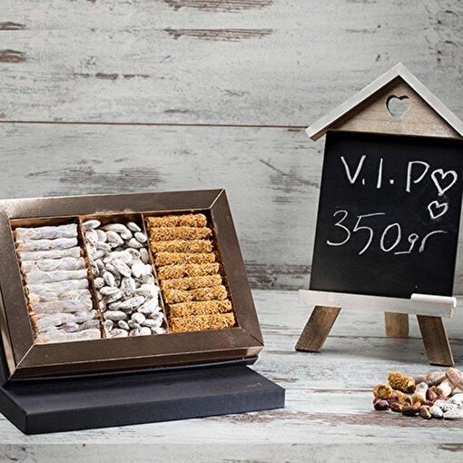 Bakırkazan 350/3 VIP Behlül Fıstıklı - Kadayıf Fıstıklı Lokum - Lebbess Badem Şekeri. ürün görseli