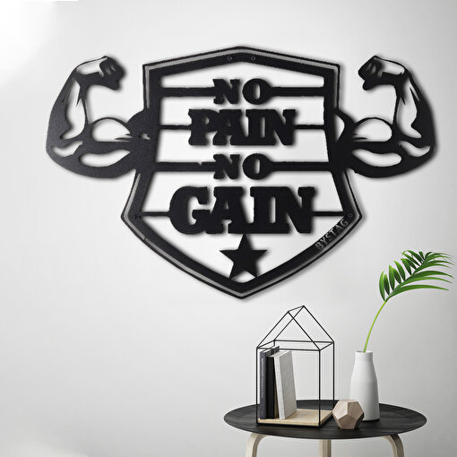 Bystag BYSM-146 No Pain No Gain XL Metal Duvar Dekoru. ürün görseli