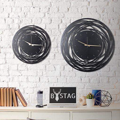 Bystag CLK-17 Lines Metal Duvar Saati. ürün görseli
