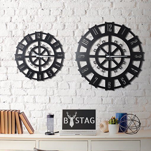 Bystag CLK-22 Stone XL Metal Duvar Saati. ürün görseli