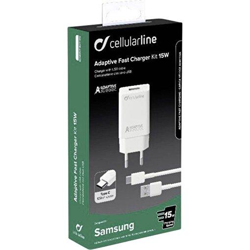 Cellularline Type-C Seyahat Şarjı 15W(Kablo+Adaptör). ürün görseli