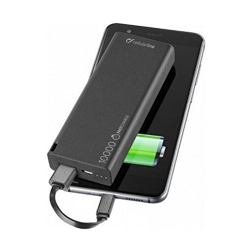 Cellularline Slim 10000 mAh Powerbank Siyah. ürün görseli