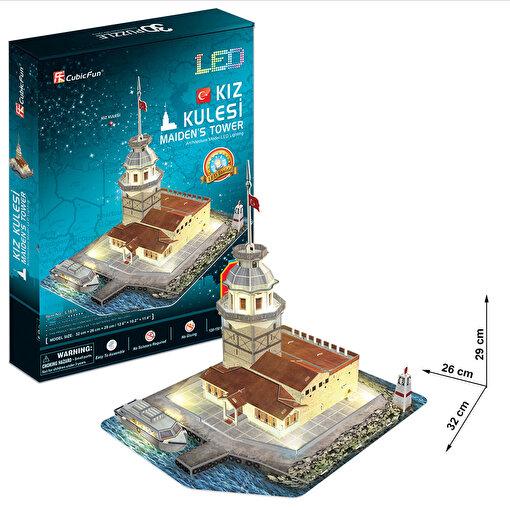 Cubic Fun 3D 66 Parça Led Puzzle Kız Kulesi. ürün görseli