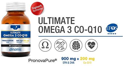 Dinamis Vitamin Ultimate Omega 3 Co-Q10 60 Kapsül. ürün görseli