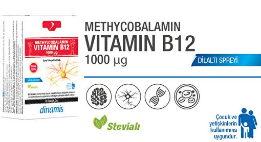 Dinamis Methyl Vitamin B12 1000mcg2 1000mcg. ürün görseli