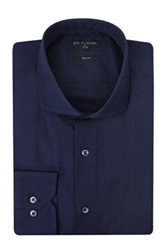 DS Damat XL Beden Slim Fit Lacivert Erkek Gömlek. ürün görseli
