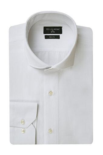 DS Damat S Beden Slim Fit Beyaz Erkek Gömlek. ürün görseli