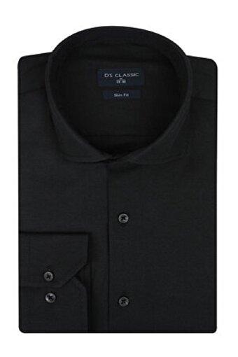 DS Damat S Beden Slim Fit Siyah Erkek Gömlek. ürün görseli