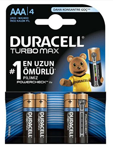 Duracell Turbo Max İnce Kalem Pil 4'lü AAA. ürün görseli