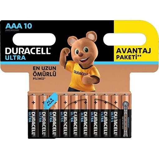 Duracell Ultra İnce Kalem Pil 10'lu AAA. ürün görseli
