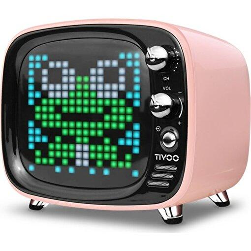 Divoom Tivoo Retro Bluetooth Hoparlör Pembe. ürün görseli