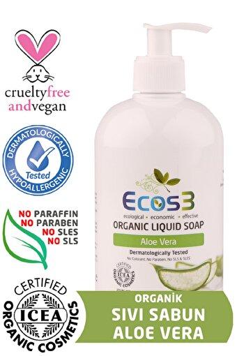 Ecos3 Organik Sıvı Sabun Aloevera (500 Ml). ürün görseli