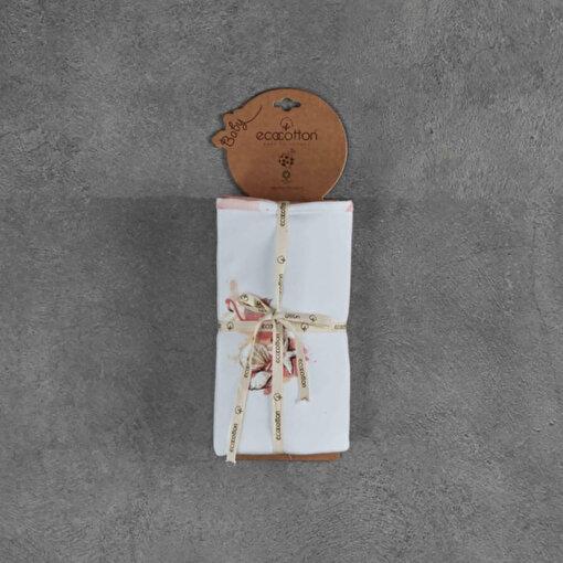 Ecocotton Bebek Battaniyesi Rosa Beyaz. ürün görseli