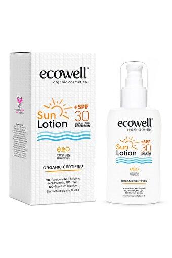 Ecowell Organik Vegan Güneş Losyonu 30 Sfp 150 ml . ürün görseli