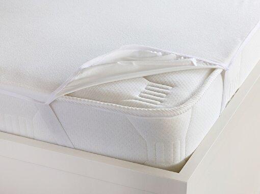 English Home Fresh Touch Su Geçirmez Tek Kişilik Alez100x200 cm Ekru. ürün görseli