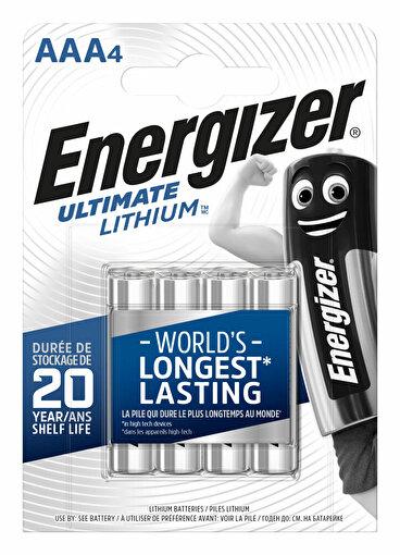 Energizer Ultimate Lithium AAA 4 lü Pil. ürün görseli