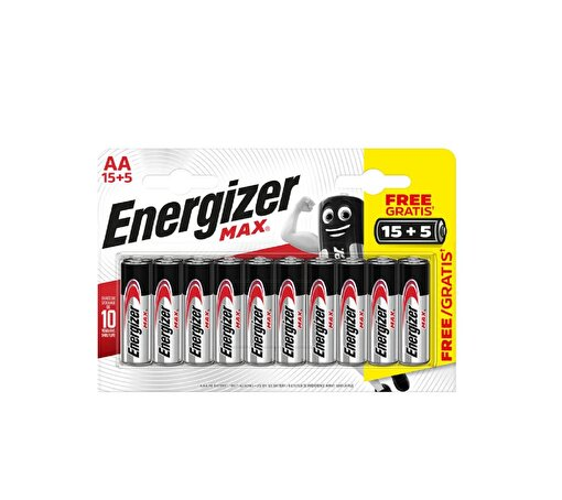 Energizer Max Alkaline AA 15+5 Pil. ürün görseli