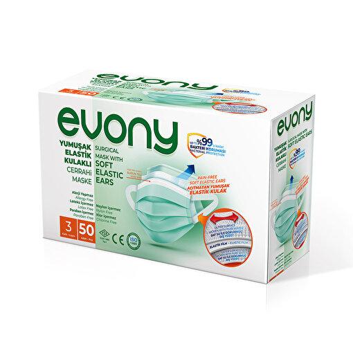 Evony Elastik Kulaklı Cerrahi Maske 50li. ürün görseli