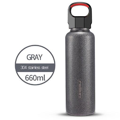 Feijian FS-066-13A-01 660 ml Siyah Çelik Termos. ürün görseli