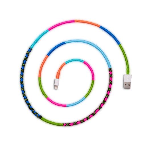 Hippi Melody Lightning Yüksek Hızlı El Örgüsü 1 Metre Şarj ve Data Kablosu . ürün görseli