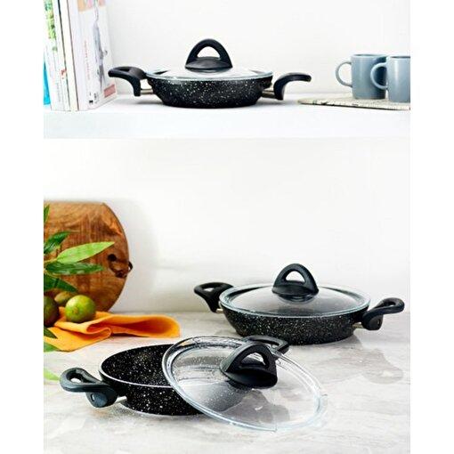 Hisar Assos Multi Granit Siyah 6 Parça Sahan Seti. ürün görseli
