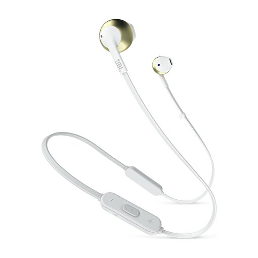 Jbl T205BT Bluetooth Mikrofonlu Kulak içi Kulaklık  Beyaz-Altın. ürün görseli