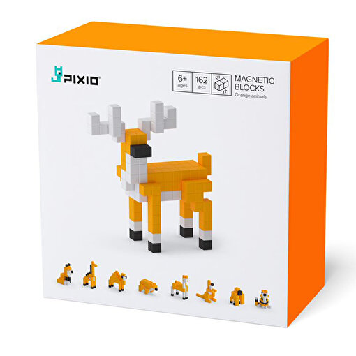 Pixio Orange Animals Manyetik Blok. ürün görseli