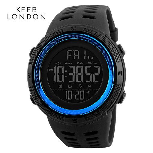 Keep London Unisex Dijital Japon Makine Saat Mavi. ürün görseli