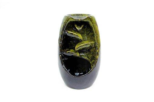 Keep London Home Lüks Geri Akışlı Şelale Seramik Buhurdanlık Green Black. ürün görseli
