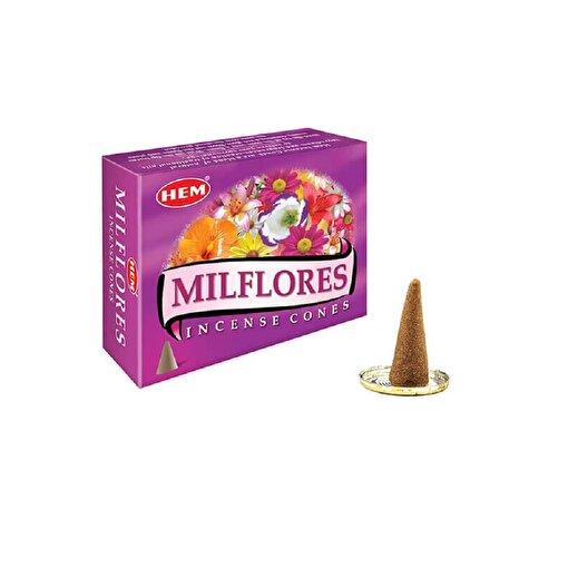 Keep London Home Hem Milflores Çiçek Demeti Seçilmiş Çiçek Özlerinden 120 Adet Konik Tütsü. ürün görseli