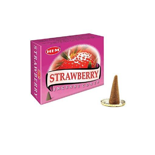 Keep London Home Hem Strawberry Çilek Özlerinden 120 Adet Konik Tütsü. ürün görseli