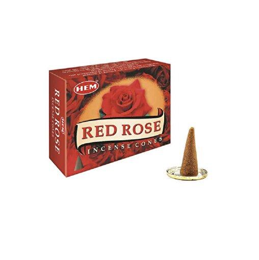 Keep London Home Hem Red Rose Cones Kırmızı Gül Özlerinden 120 Adet Konik Tütsü. ürün görseli