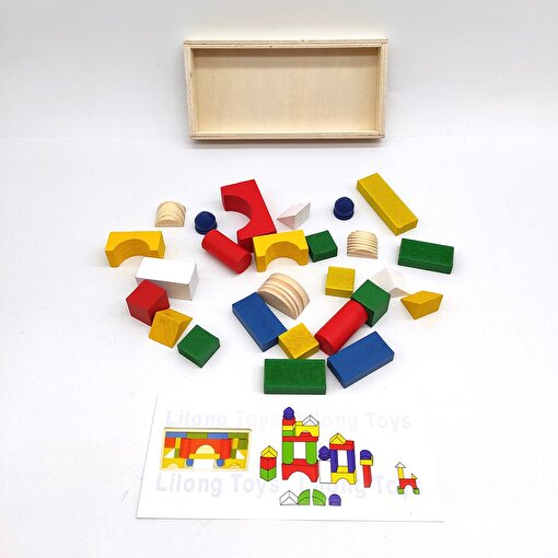 Keep London Kids Ahşap 26 Parça El-Göz-Koordinasyon Eğitici Geometrik Şekiller. ürün görseli