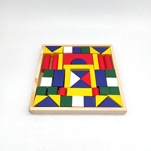 Keep London Kids Ahşap 49 Parça El-Göz-Koordinasyon Eğitici Geometrik Şekiller. ürün görseli